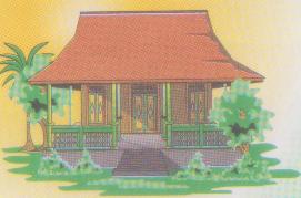 990+ Gambar Kartun Rumah Adat Jawa Tengah HD