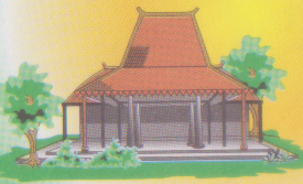 9900 Gambar Rumah Adat Jawa Tengah Kartun HD